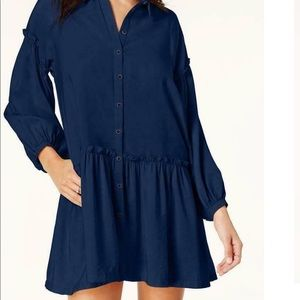 Free People dark blue flowy dress, tunic, blouse